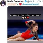 Vanessa Ferrari, l'applauso di Nadia Comaneci